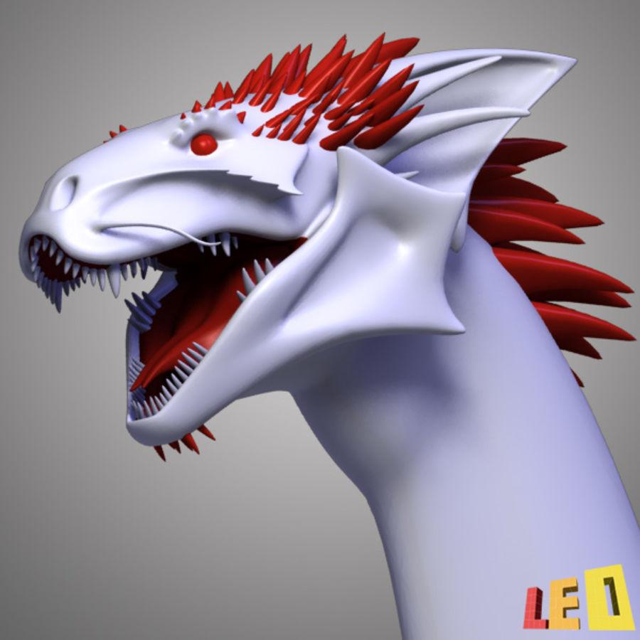 Dragon Head royalty-free 3d model - Preview no. 9