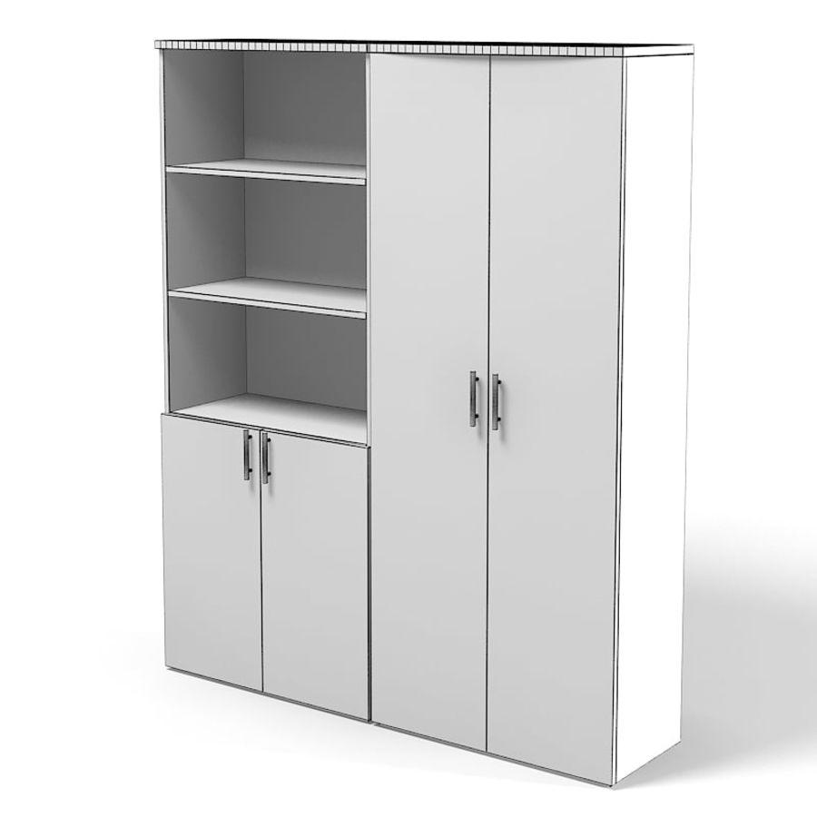 Офисный шкаф Книжный шкаф Набор современной современной мебели royalty-free 3d model - Preview no. 2