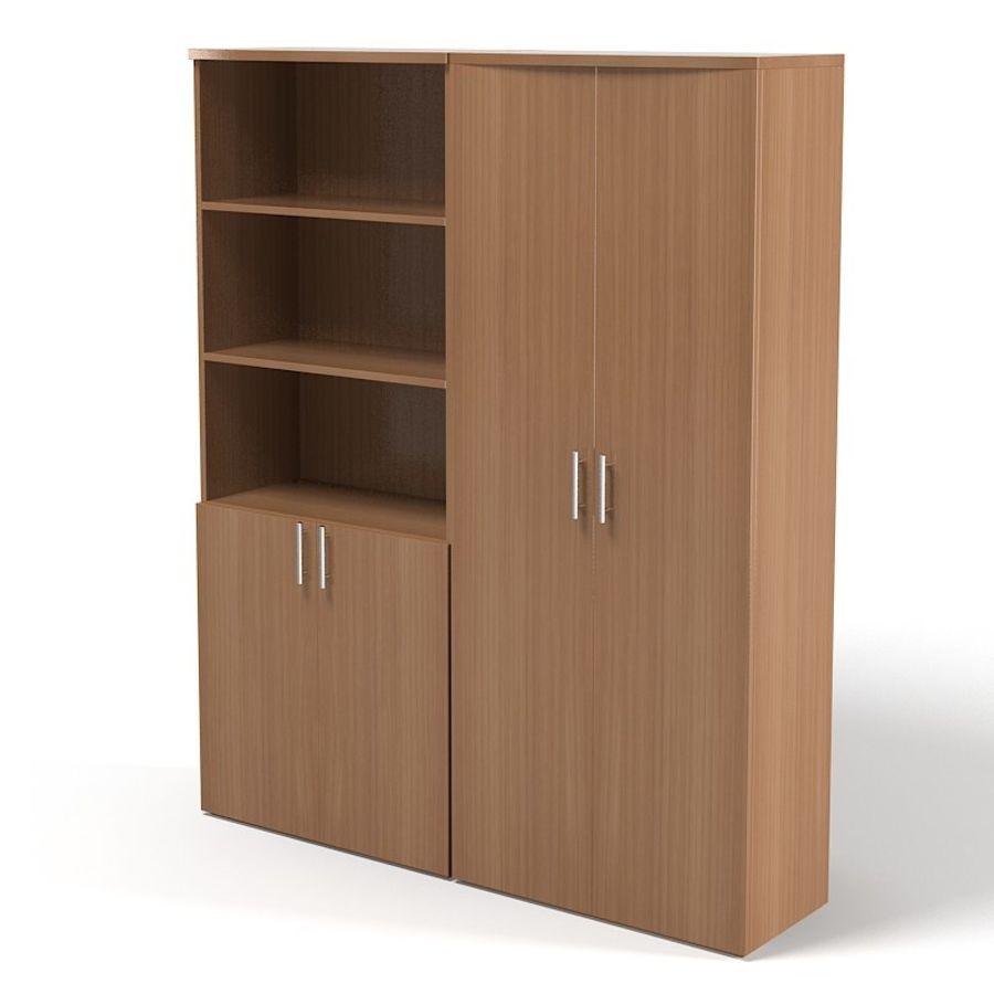 Офисный шкаф Книжный шкаф Набор современной современной мебели royalty-free 3d model - Preview no. 1