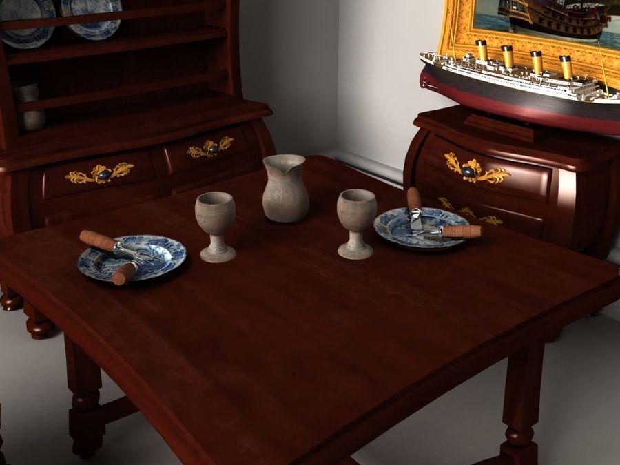 Çizgi film benzeri mobilya seti royalty-free 3d model - Preview no. 4