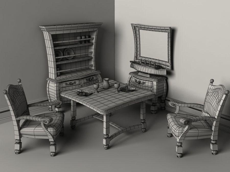 Çizgi film benzeri mobilya seti royalty-free 3d model - Preview no. 5