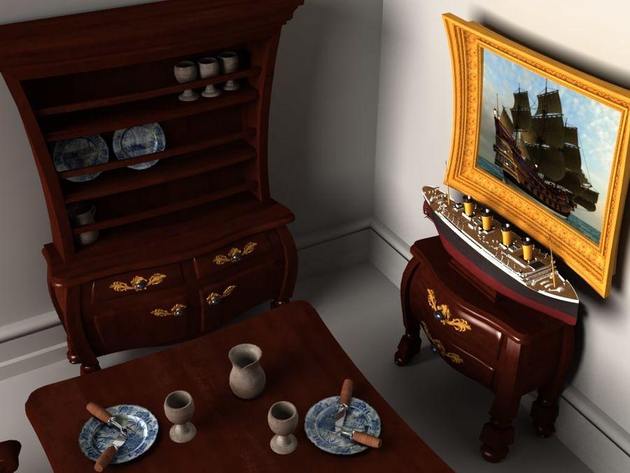 Çizgi film benzeri mobilya seti royalty-free 3d model - Preview no. 2