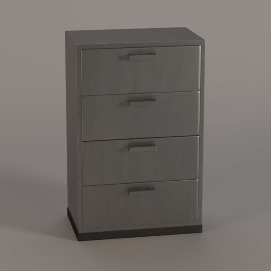 medical cabinet05 royalty-free 3d model - Preview no. 1