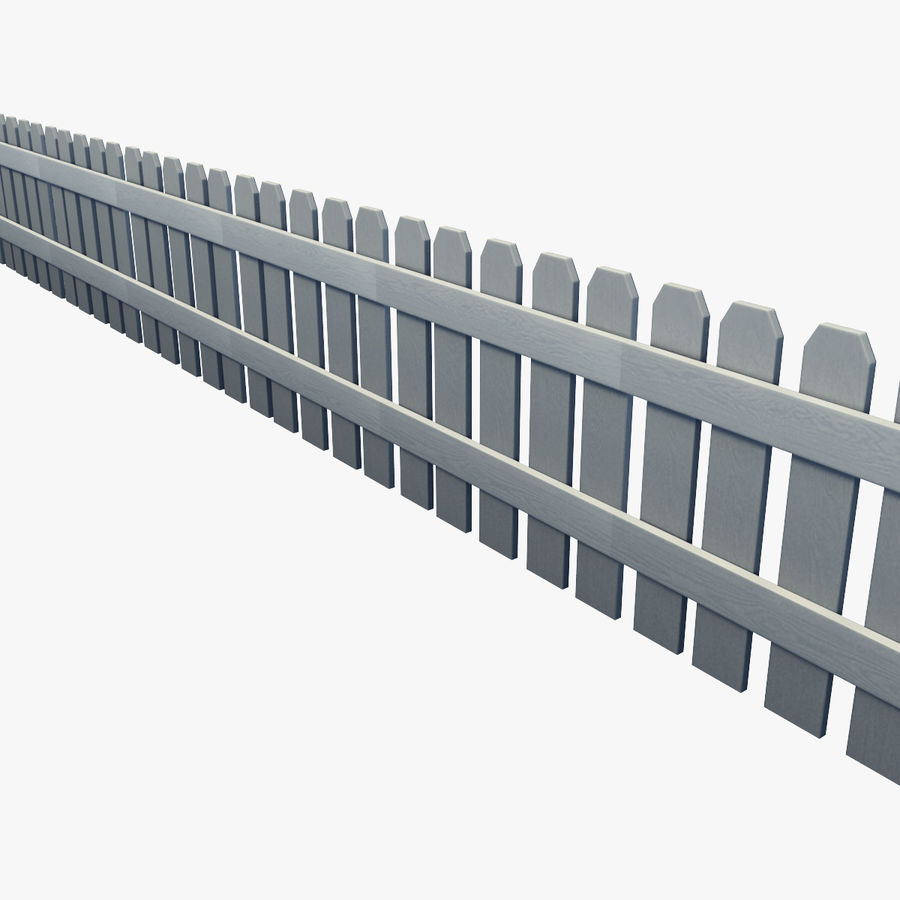 White_Picket_Fence royalty-free 3d model - Preview no. 5