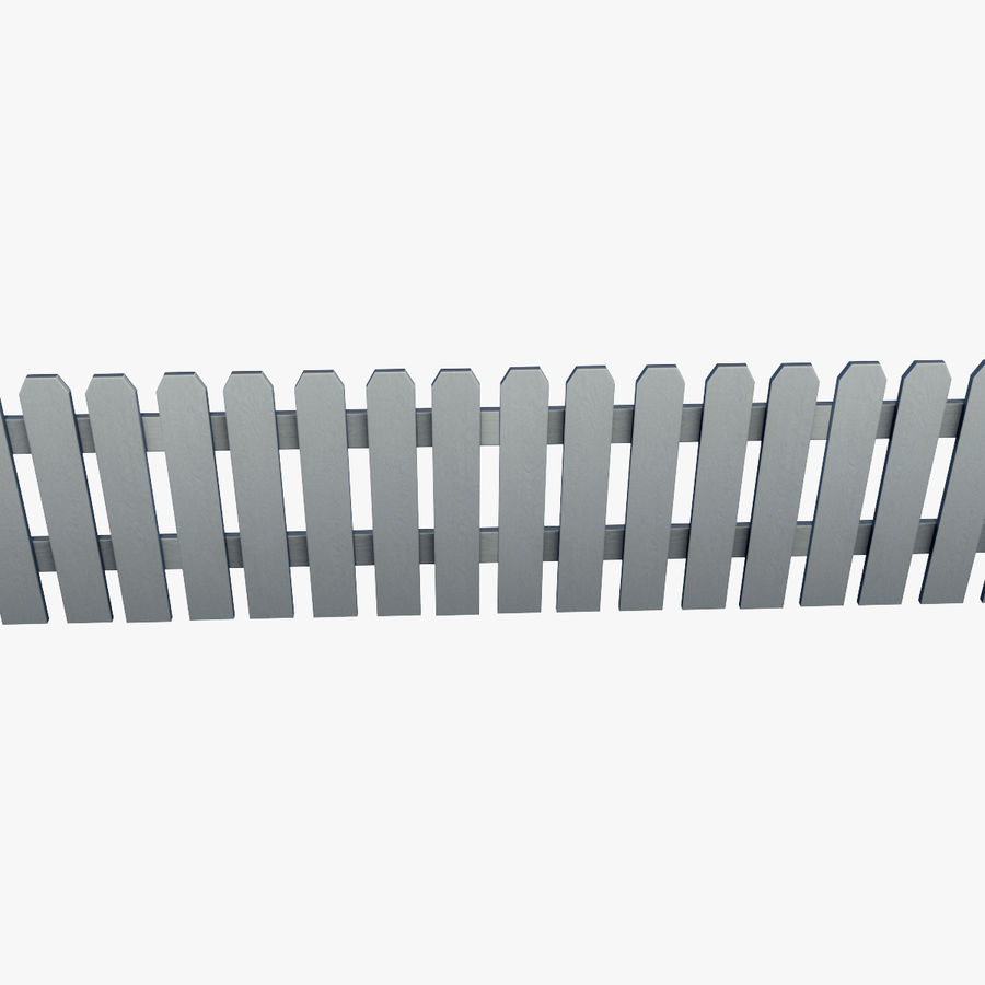 White_Picket_Fence royalty-free 3d model - Preview no. 1