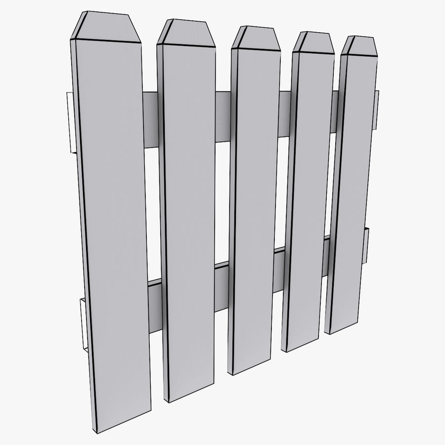 White_Picket_Fence royalty-free 3d model - Preview no. 7