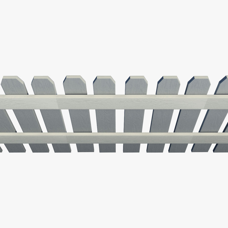 White_Picket_Fence royalty-free 3d model - Preview no. 6