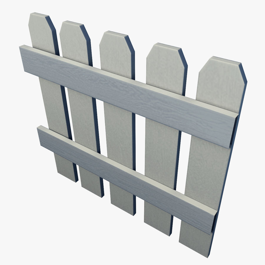 White_Picket_Fence royalty-free 3d model - Preview no. 4