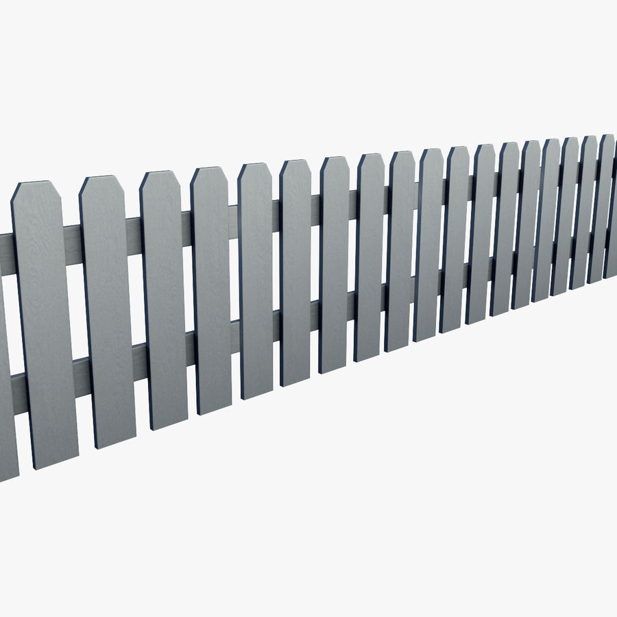 White_Picket_Fence royalty-free 3d model - Preview no. 3