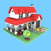 레고 집 3d model