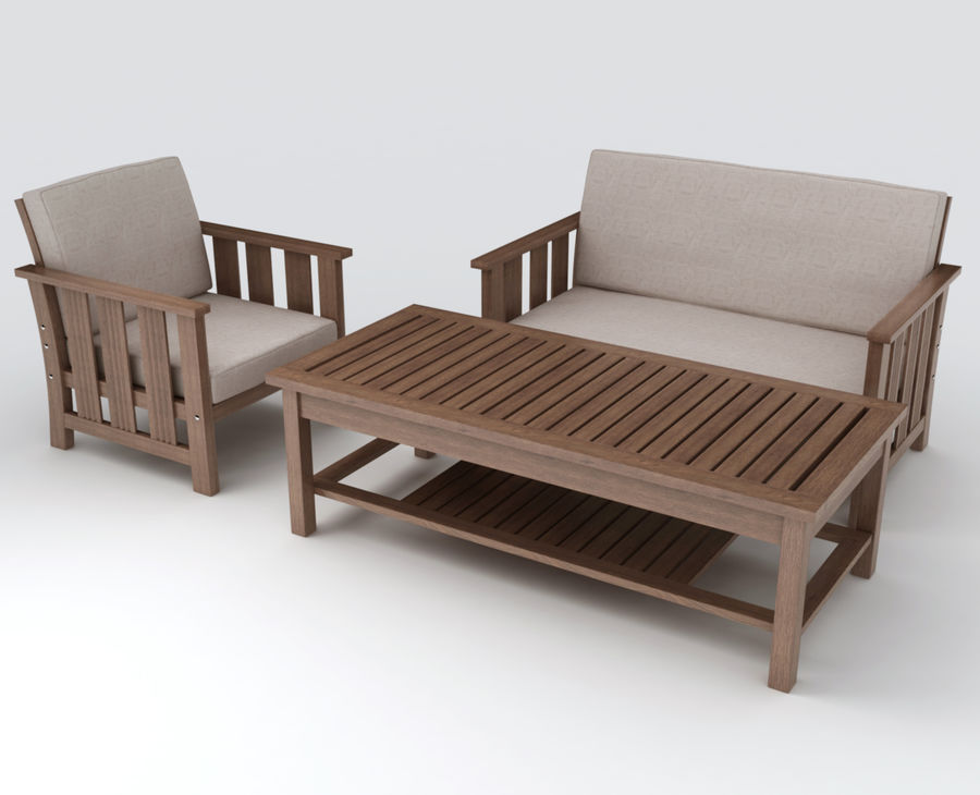 Patio Furniture set 1 royalty-free 3d model - Preview no. 1