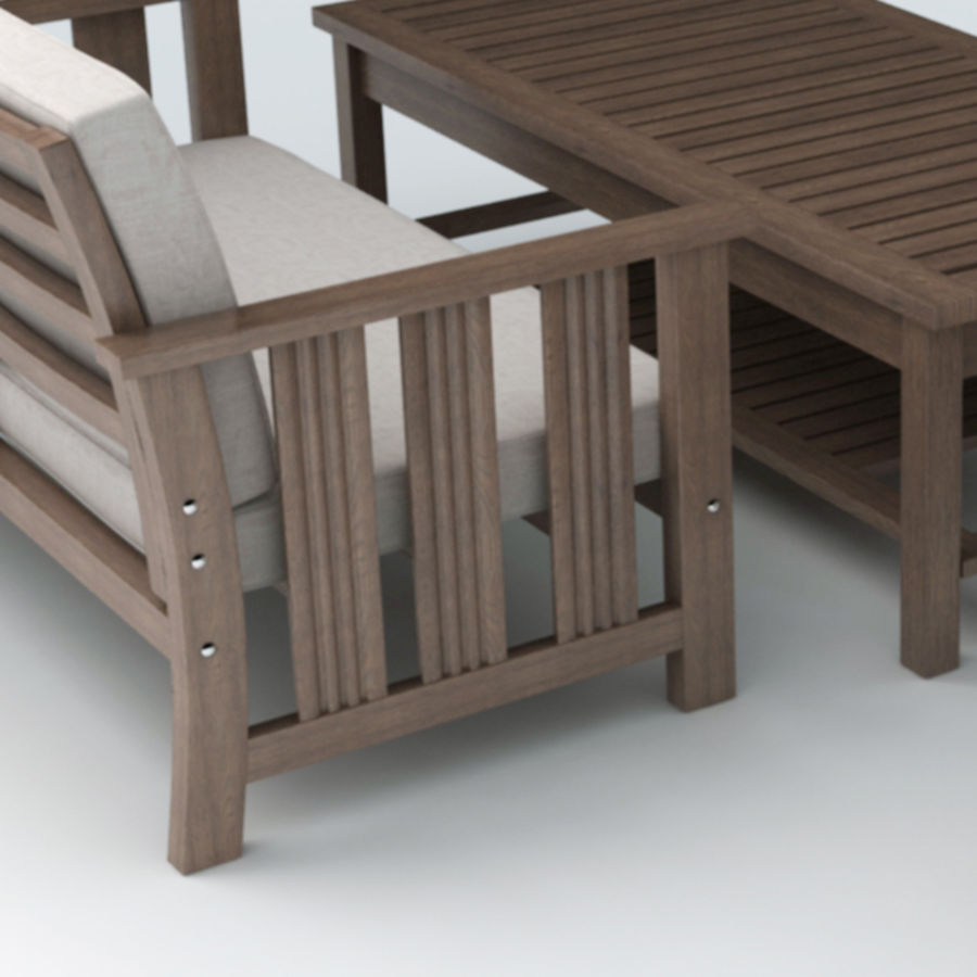 Patio Furniture set 1 royalty-free 3d model - Preview no. 3
