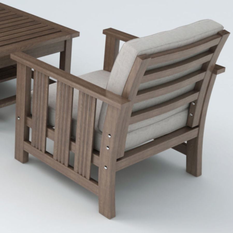 Patio Furniture set 1 royalty-free 3d model - Preview no. 4