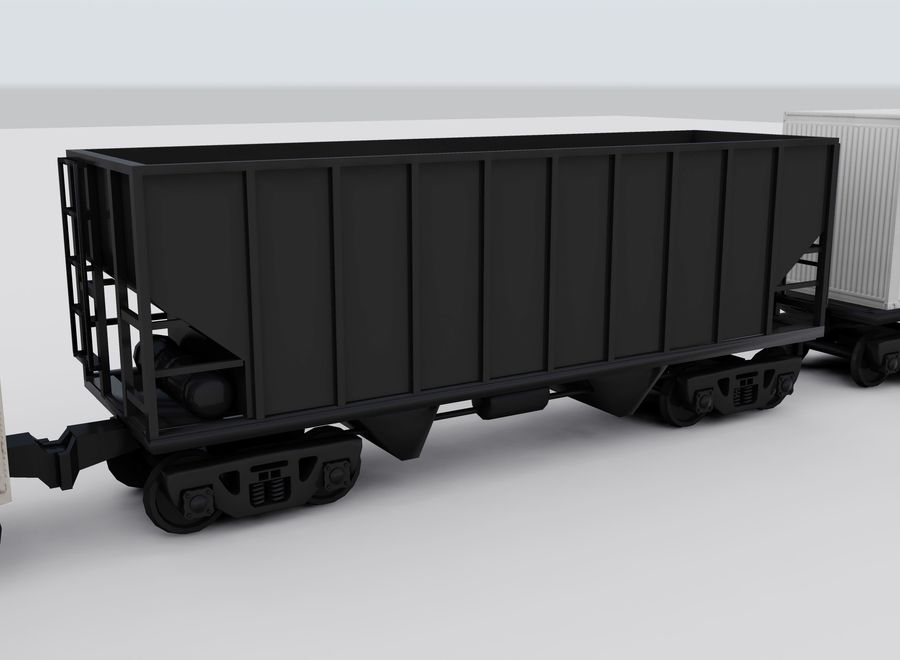 Freight Train royalty-free 3d model - Preview no. 10