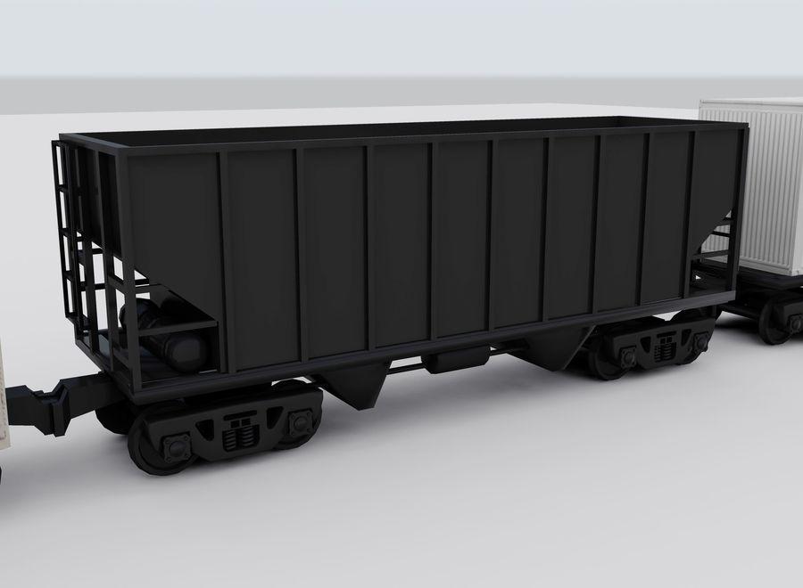 Tren de carga royalty-free modelo 3d - Preview no. 10