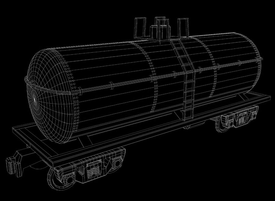 Freight Train royalty-free 3d model - Preview no. 29