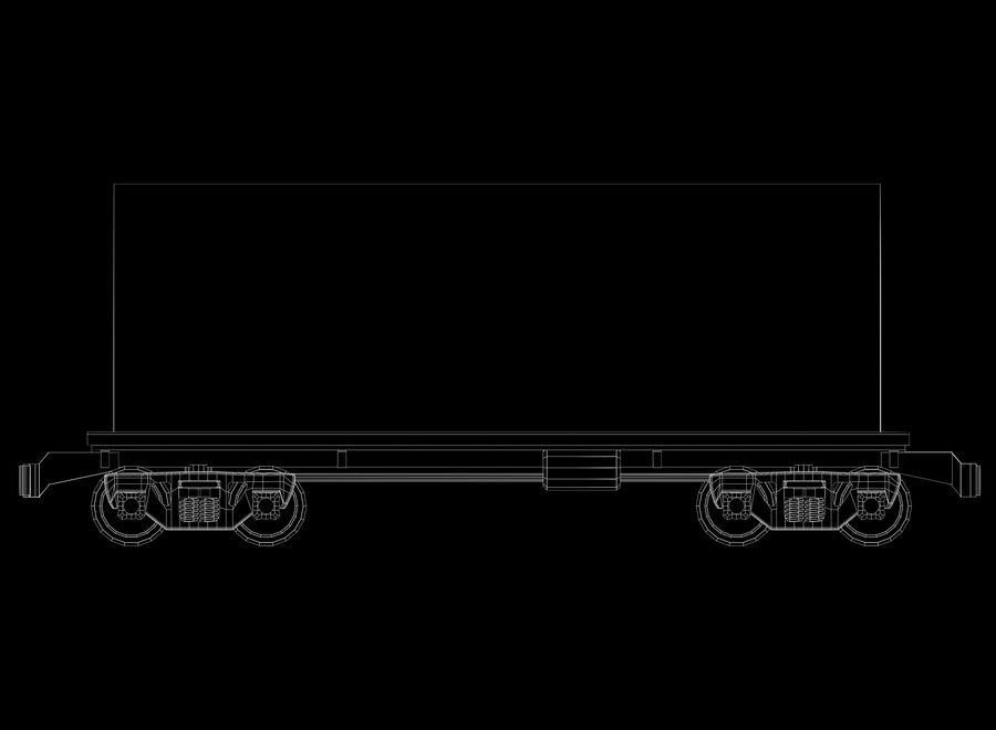 貨物列車 royalty-free 3d model - Preview no. 5