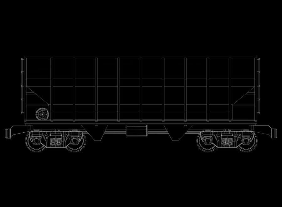 貨物列車 royalty-free 3d model - Preview no. 3
