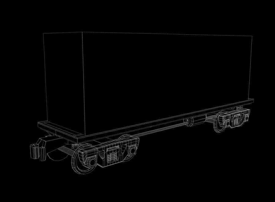 貨物列車 royalty-free 3d model - Preview no. 6