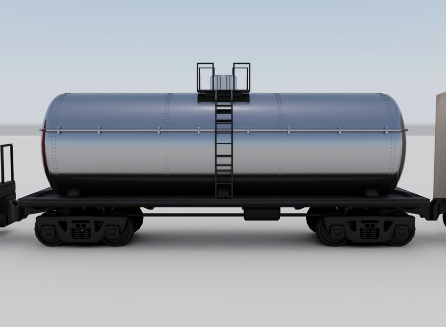 Freight Train royalty-free 3d model - Preview no. 8