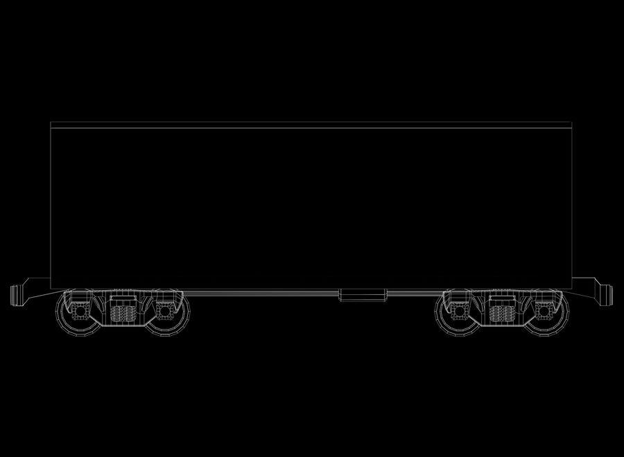Tren de carga royalty-free modelo 3d - Preview no. 32