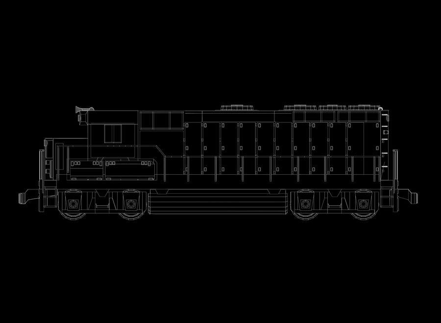 貨物列車 royalty-free 3d model - Preview no. 14