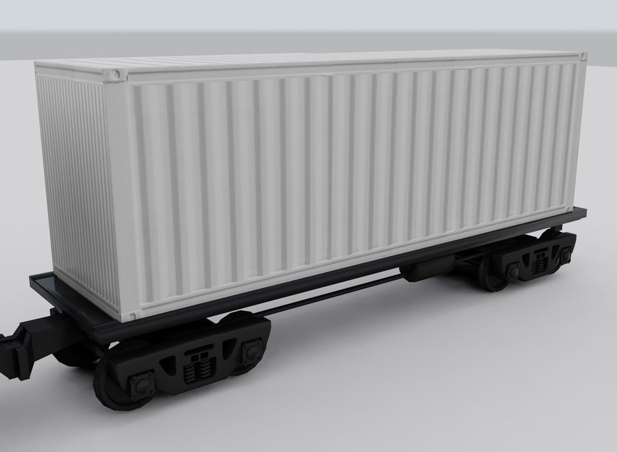Freight Train royalty-free 3d model - Preview no. 13