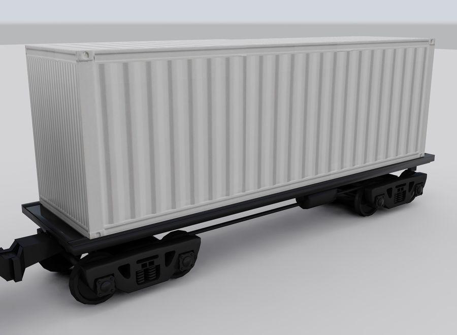 Tren de carga royalty-free modelo 3d - Preview no. 13