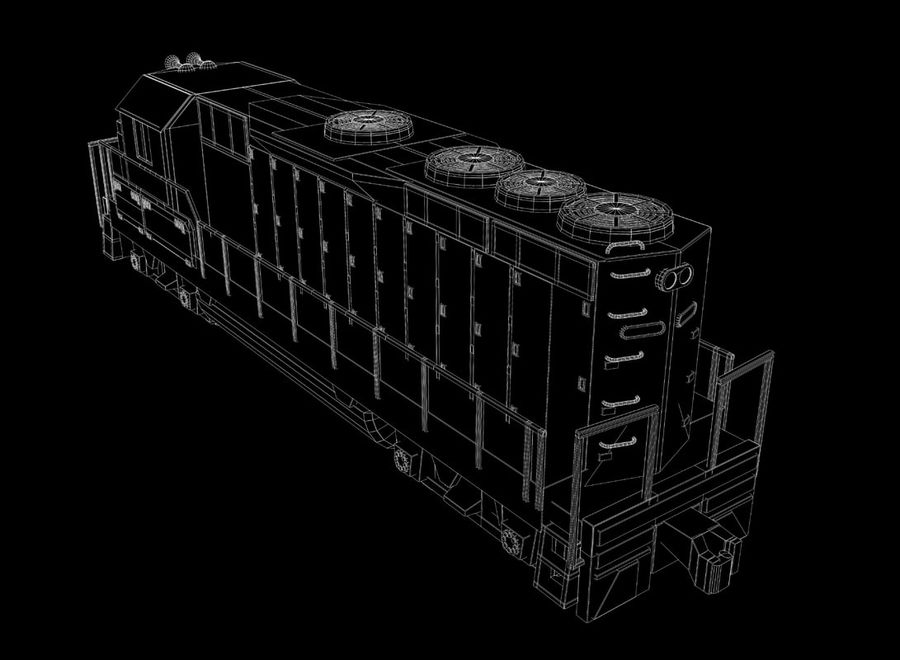 Freight Train royalty-free 3d model - Preview no. 27