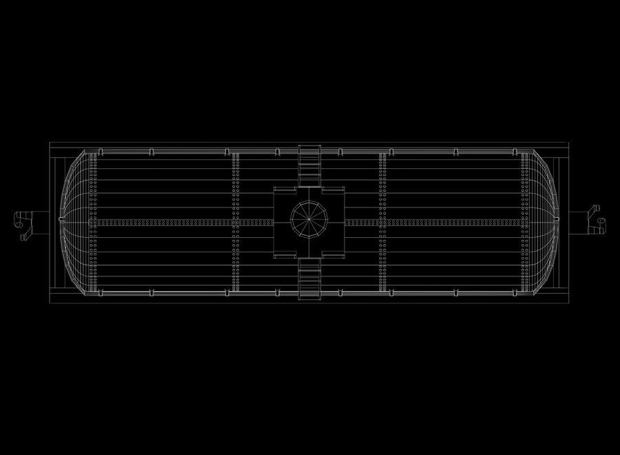 貨物列車 royalty-free 3d model - Preview no. 9
