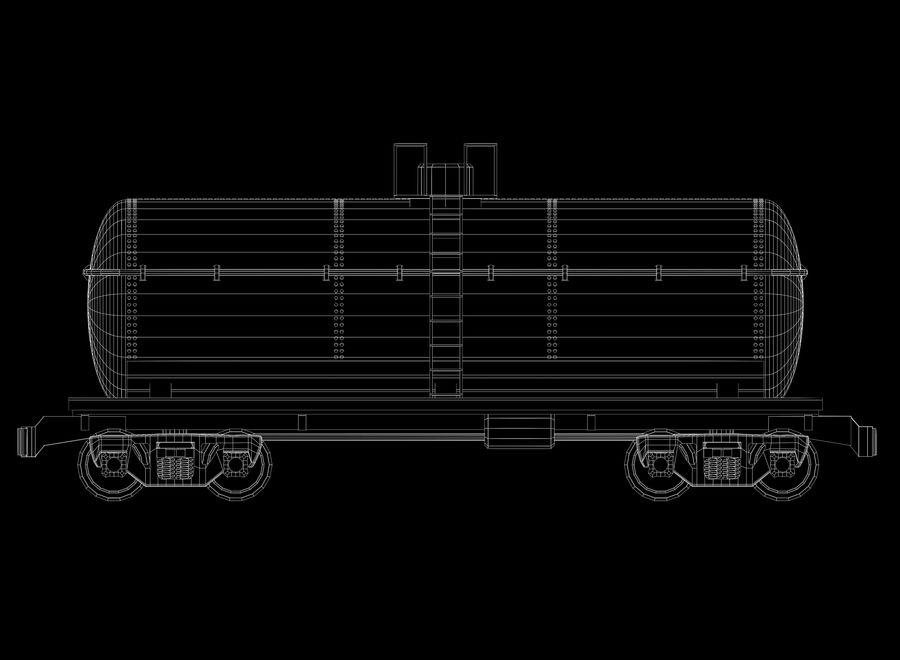 Freight Train royalty-free 3d model - Preview no. 30