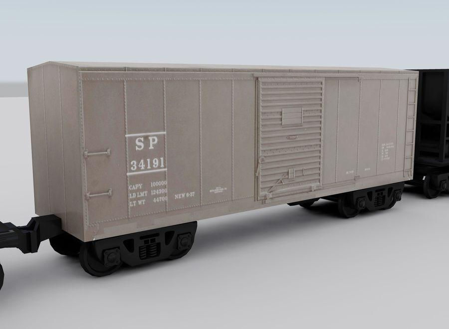 Tren de carga royalty-free modelo 3d - Preview no. 12