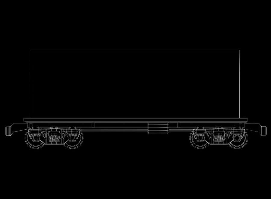 Tren de carga royalty-free modelo 3d - Preview no. 19