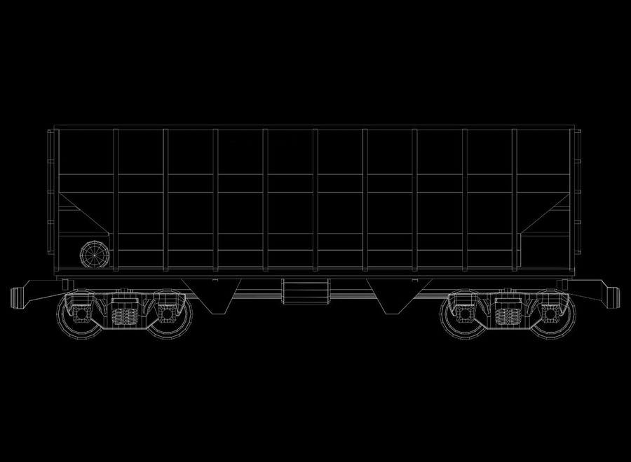 Tren de carga royalty-free modelo 3d - Preview no. 17