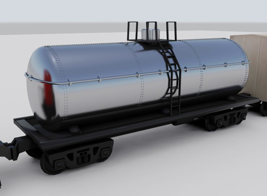 Freight Train royalty-free 3d model - Preview no. 7