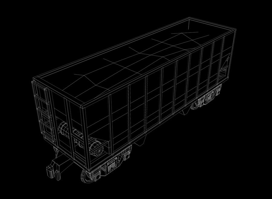 Freight Train royalty-free 3d model - Preview no. 16