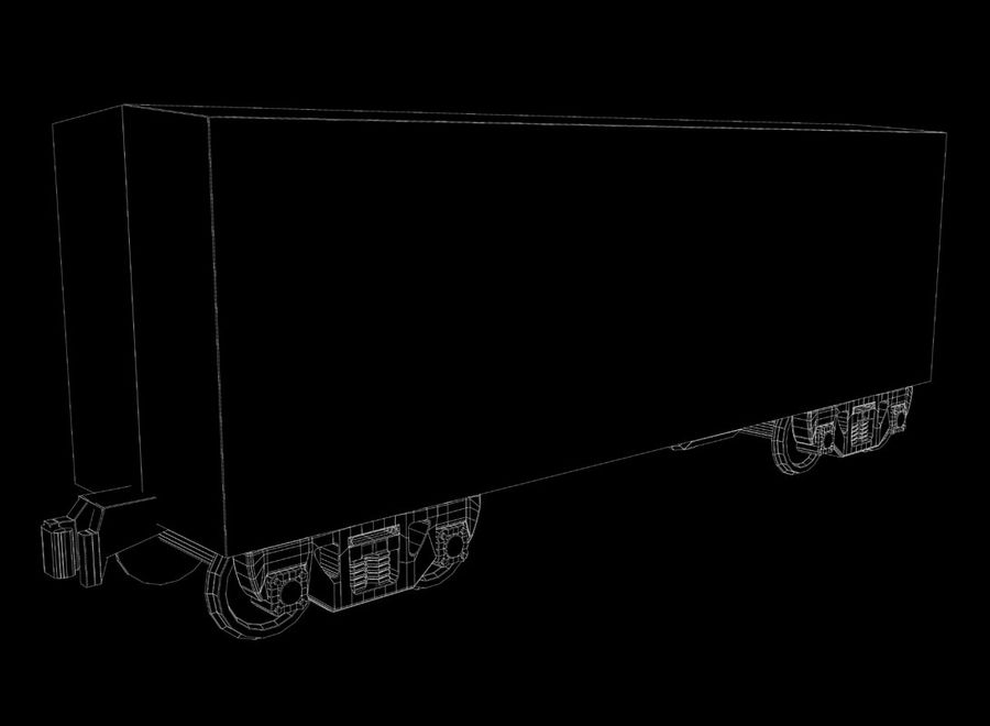 Freight Train royalty-free 3d model - Preview no. 31
