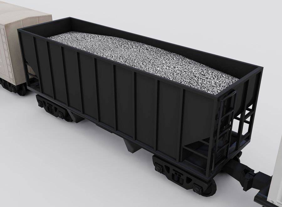 Freight Train royalty-free 3d model - Preview no. 11