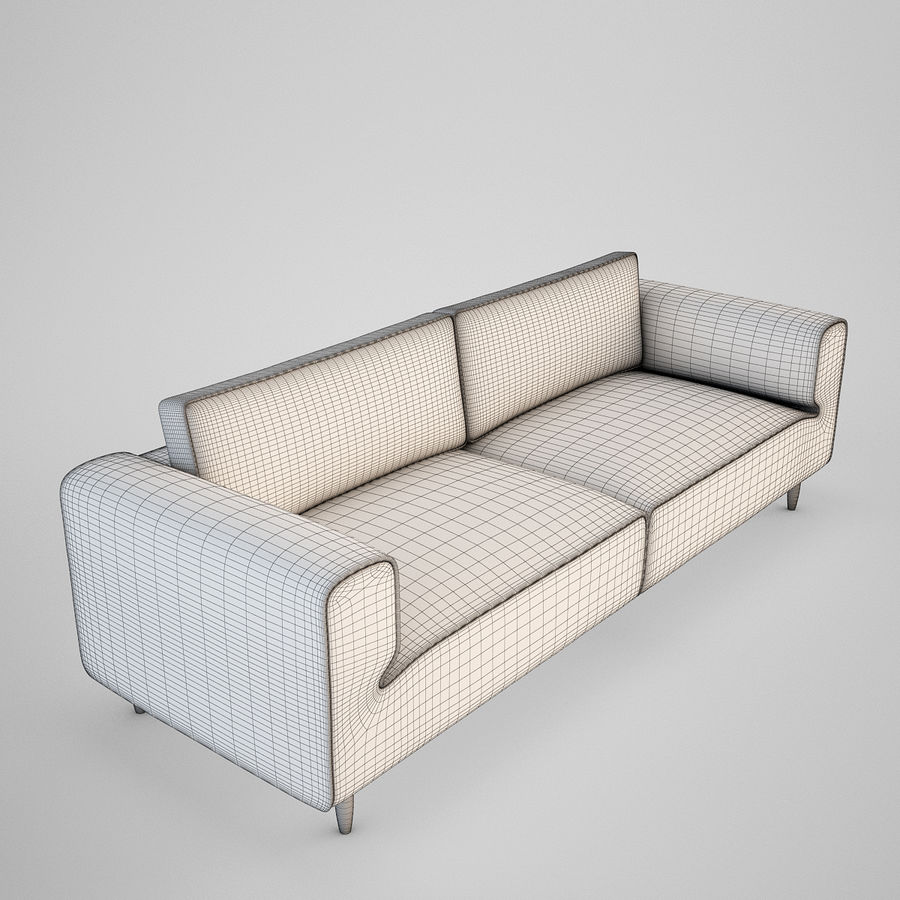 Sofá Arco BoConcept royalty-free 3d model - Preview no. 4
