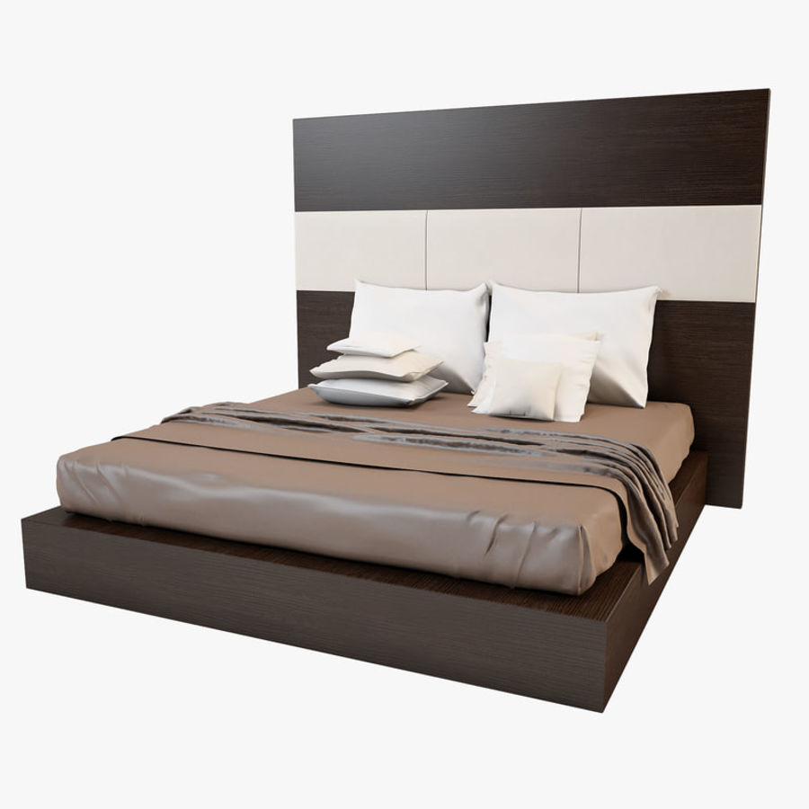 Bed_01 royalty-free 3d model - Preview no. 1