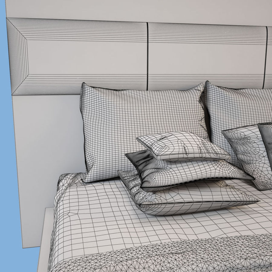 Bed_01 royalty-free 3d model - Preview no. 10