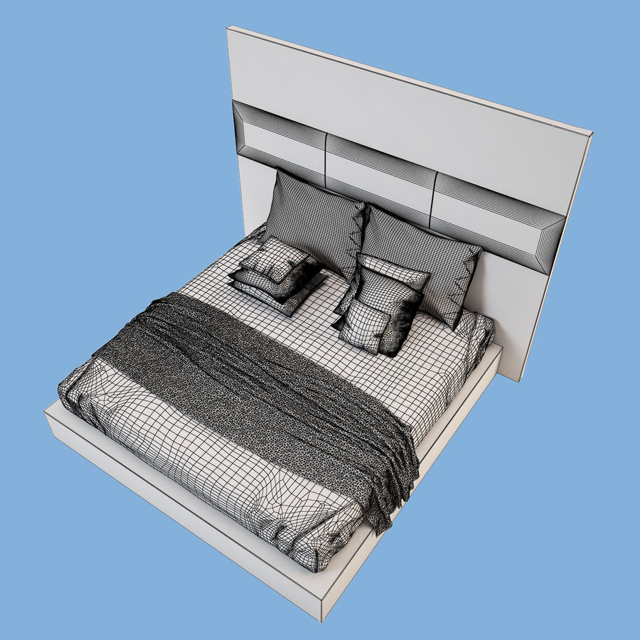 Bed_01 royalty-free 3d model - Preview no. 8