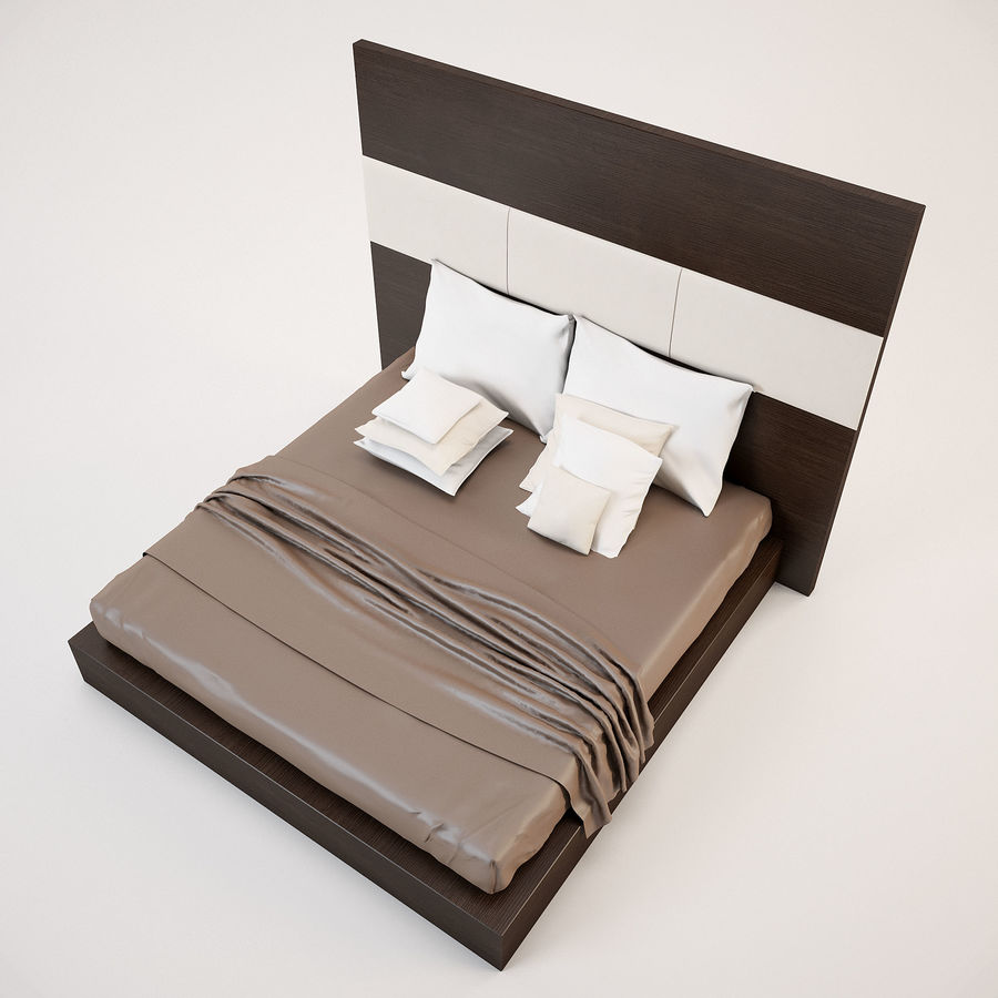 Bed_01 royalty-free 3d model - Preview no. 7