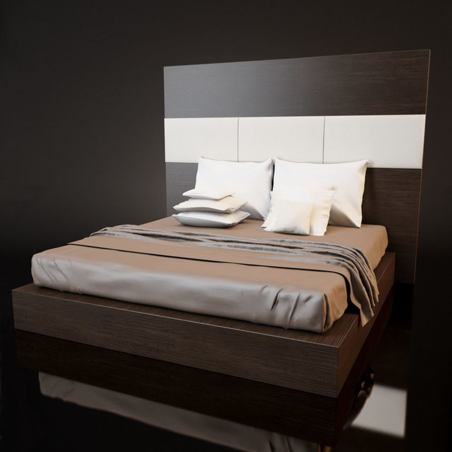Bed_01 royalty-free 3d model - Preview no. 2
