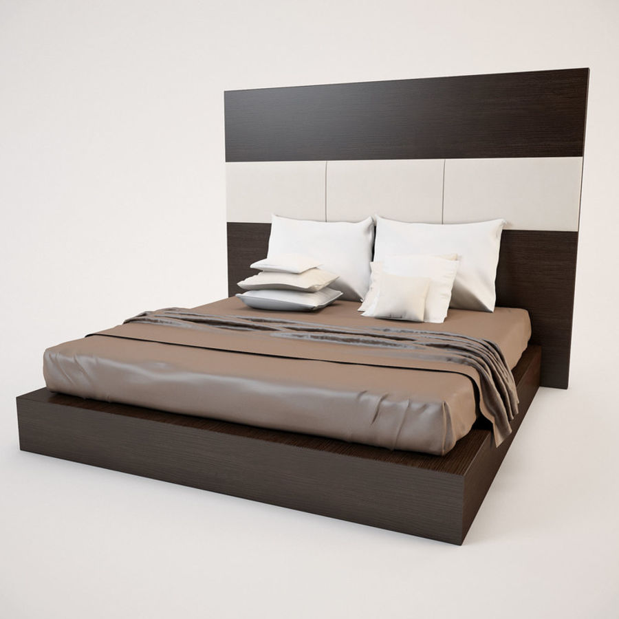 Bed_01 royalty-free 3d model - Preview no. 3