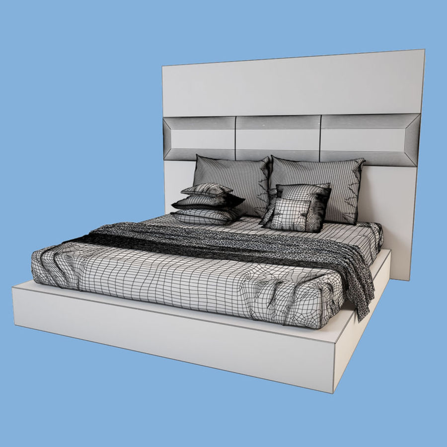 Bed_01 royalty-free 3d model - Preview no. 4