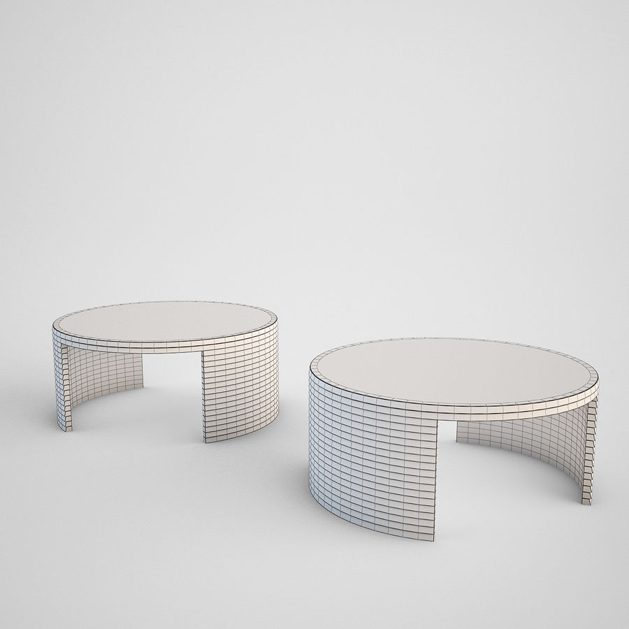 Coffee table set royalty-free 3d model - Preview no. 5