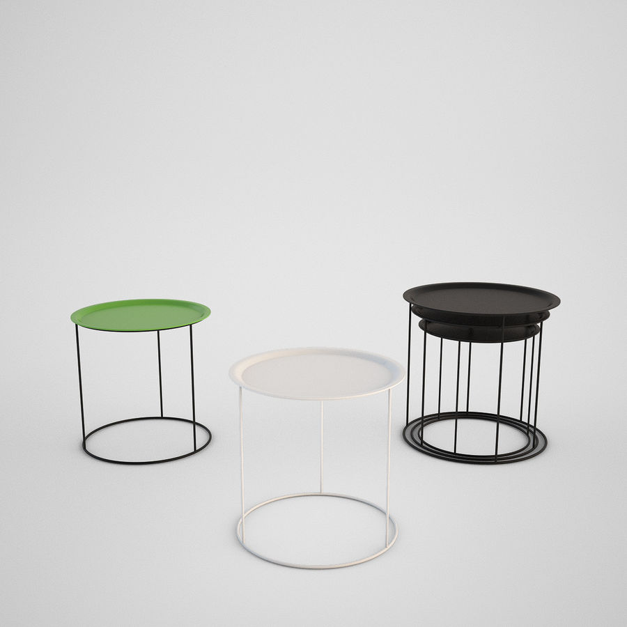 Coffee table set royalty-free 3d model - Preview no. 8
