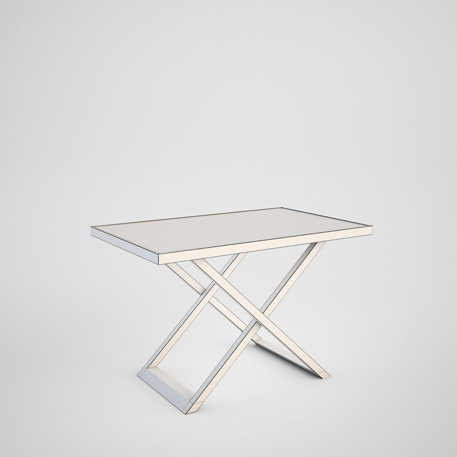Coffee table set royalty-free 3d model - Preview no. 7