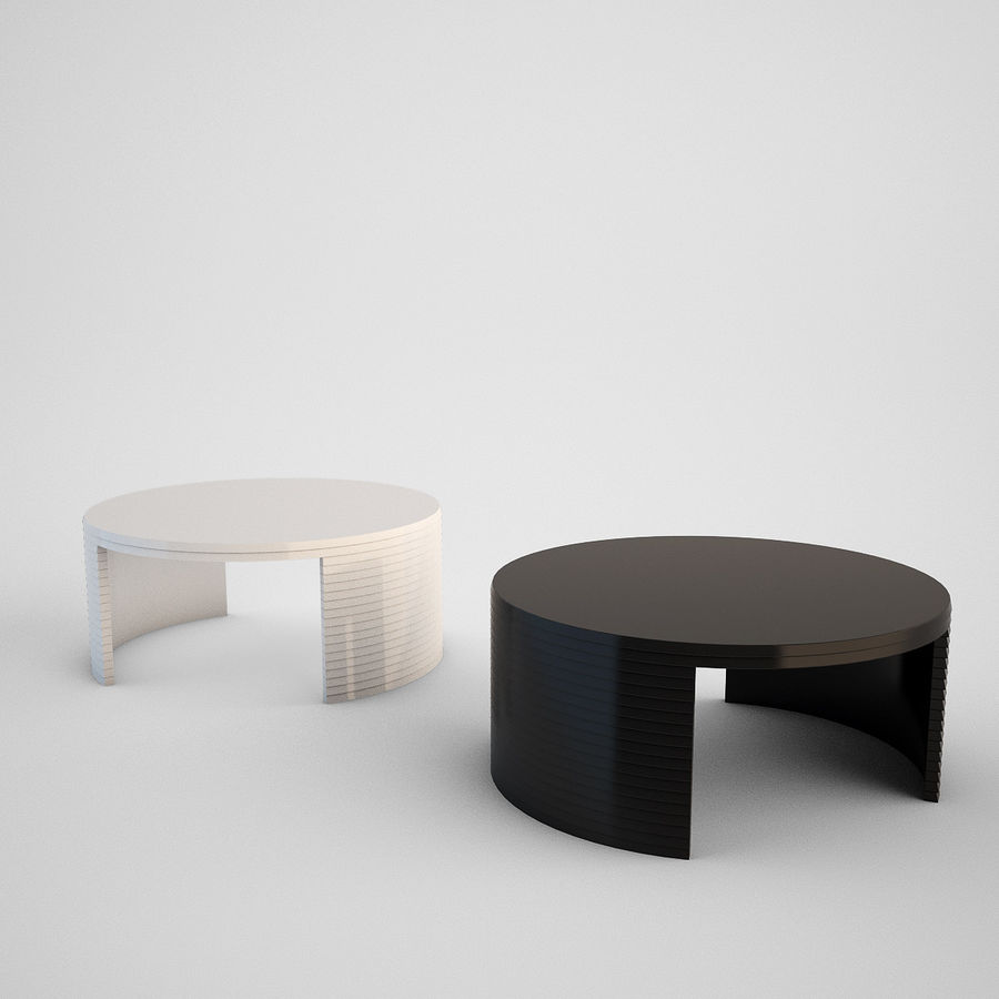 Coffee table set royalty-free 3d model - Preview no. 4